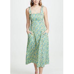 Cinq a Sept Perla Peridot Floral Midi Dress NWT